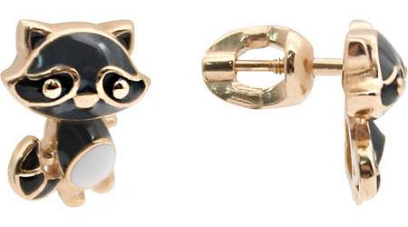 Серьги Aquamarine 33336-S-g-a yoursfs лисы стад серьги опаловые серьги милые серьги животных для девочки