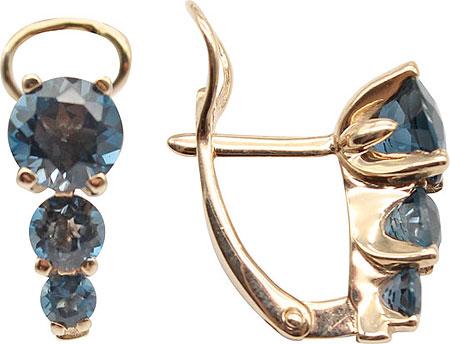 Серьги Aquamarine 4415708-G-a