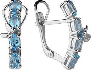 Серьги Aquamarine 4471205-S-a