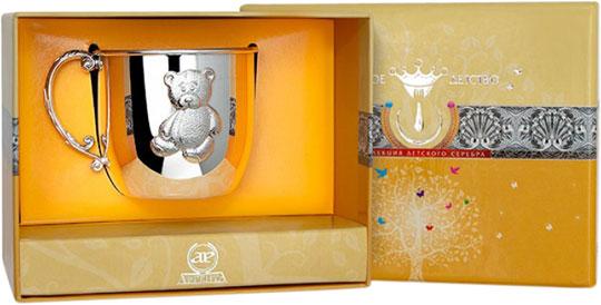 Столовое серебро АргентА 100KR05001 серебряная детская кружка мишка 483кр05808