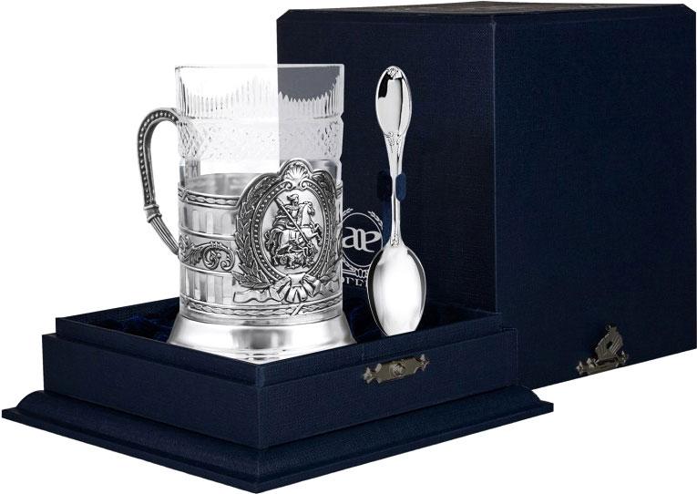 Столовое серебро АргентА 1024NB03806 аргента набор чашка чайная зимние узоры ложка 2предмета пр 925 футляр
