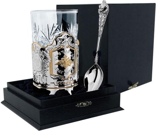 Столовое серебро АргентА 109NB03802 аргента набор чашка чайная зимние узоры ложка 2предмета пр 925 футляр