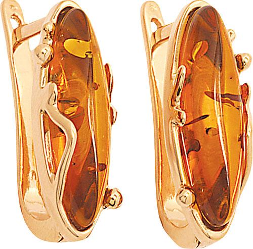 Серьги Балтийское золото 52130001-bz серьги серебро с янтарем окос сснян 9758