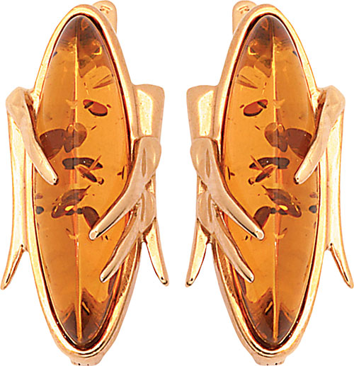 Серьги Балтийское золото 52130046-bz серьги серебро с янтарем окос сснян 9758