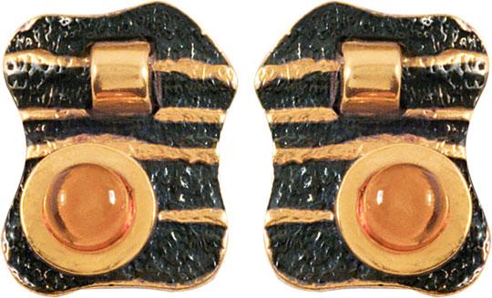 Серебряные серьги Серьги Балтийское золото 72131030-bz фото