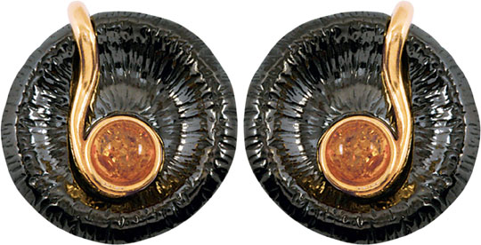 Фото - Серьги Балтийское золото 72131051-bz колье балтийское золото 0913k854 bz