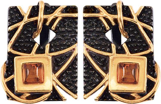 Серьги Балтийское золото 72131054-bz серьги серебро с янтарем окос сснян 9758