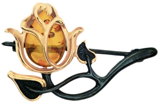 Броши Балтийское золото 75162001-bz
