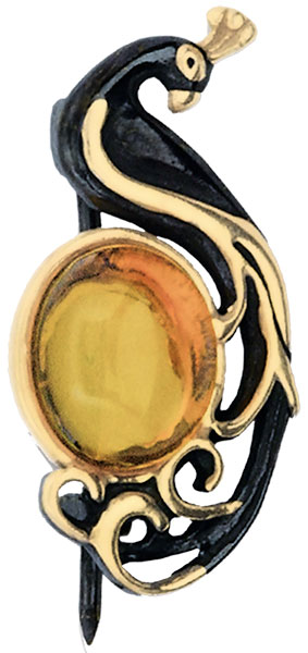 Броши Балтийское золото 75162007-bz