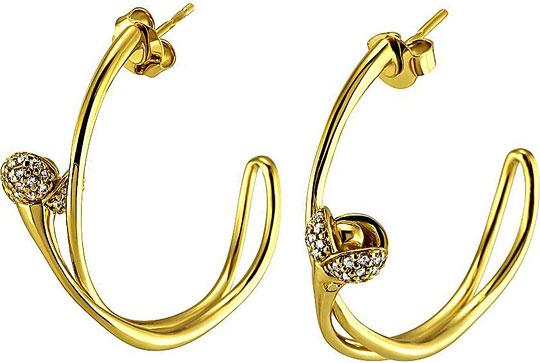 Серьги Cacharel ISW407Z жен крупногабаритные бесконечность цирконий серьги слезки серьги пуассеты металлический крупногабаритные золотой серебряный