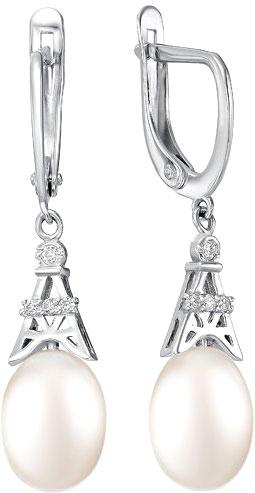 Серьги De Fleur 28085S1 серьги серебро с цитрином и фианитами присцилла