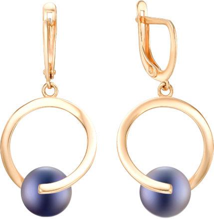 серьги с черным жемчугом золото Серьги De Fleur 32340A2