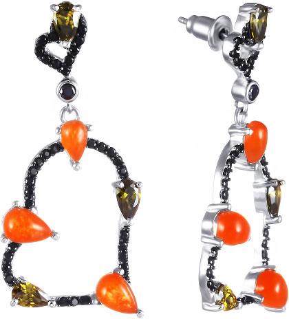 Серьги Element47 by JV 1-214257-379900-7 jv женское серебряное кольцо с куб циркониями sr01924czzsw 1 001 wg 17