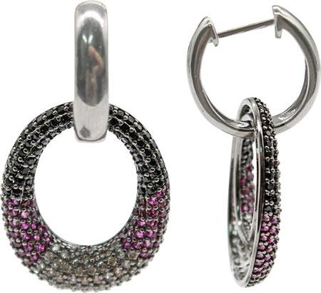 Серьги Element47 by JV AES36337W серьги с подвесками jv серебряные серьги с ювелирным стеклом se0422 us 001 wg