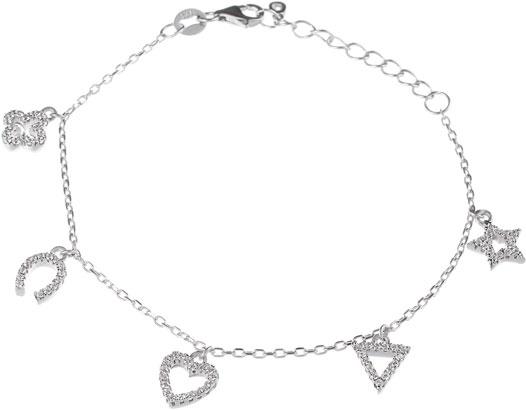 Браслеты Element47 by JV BR-H0409 женские браслеты jv женский серебряный браслет с куб циркониями br h0150 001 wg 18