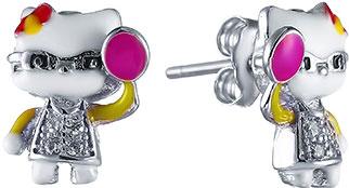 Серьги Element47 by JV DJ014-EARRING женские кольца jv женское серебряное кольцо с синт аметистом в позолоте 30 014 510 030 gams yg 18