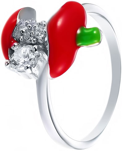 Кольца Element47 by JV DJ029-RING женские кольца jv женское серебряное кольцо с куб циркониями sr00025 001 blk 17 5