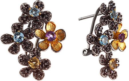 Серьги Element47 by JV E00705 серьги с подвесками jv серебряные серьги с топазами и куб циркониями ppe2390 bt 001 wg