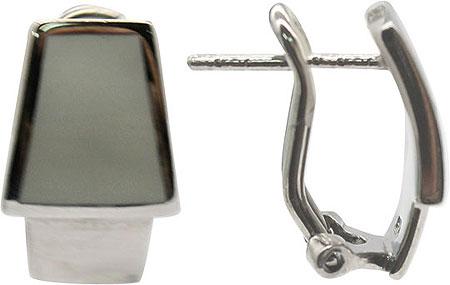 Серьги Element47 by JV E18594-gray серьги с подвесками jv серебряные серьги с ювелирным стеклом se0422 us 001 wg