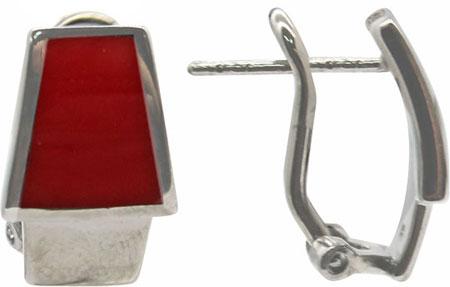 Серьги Element47 by JV E18594-red серьги с подвесками jv серебряные серьги с куб циркониями e j0406 001 wg