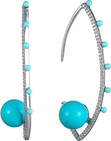 Серьги Element47 by JV E6692-1 серьги с подвесками jv серебряные серьги с куб циркониями e j0406 001 wg