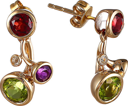 Серьги Element47 by JV E93248K-4 серьги с подвесками jv серебряные серьги с куб циркониями e j0406 001 wg