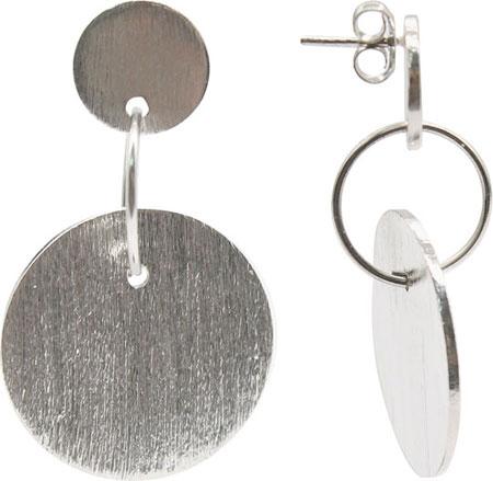 Серьги Element47 by JV EP0009-silver кулоны подвески медальоны element47 by jv sp32626b1