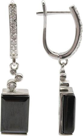 Серьги Element47 by JV G-TC-536E-SR-001-WG серьги с подвесками jv серебряные серьги с ювелирным стеклом zor360 lm us 001 blk
