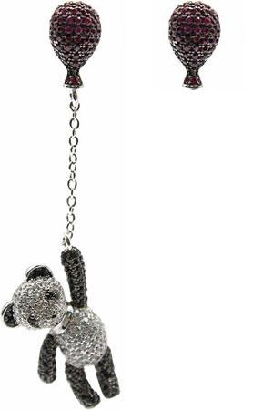 Серьги Element47 by JV J082-1 серьги с подвесками jv серебряные серьги с ювелирным стеклом se0422 us 001 wg