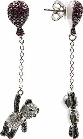 Серьги Element47 by JV J082-2 серьги с подвесками jv серебряные серьги с авантюринами куб циркониями и позолотой or 3664 aw 001 yg