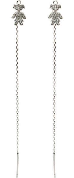 Серьги Element47 by JV J082-7EA0154 серьги с подвесками jv серебряные серьги с куб циркониями агатами и сапфирами 819 460 sm cag 001 yg