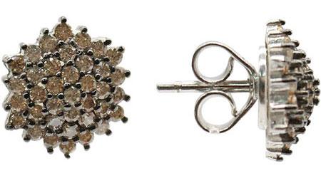 Серьги Element47 by JV KB04903-E-brown серьги с подвесками jv серебряные серьги с куб циркониями e j0406 001 wg
