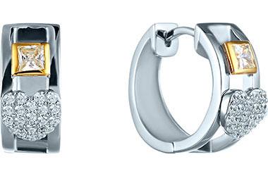 Серьги Element47 by JV MT1685-E1335F69YRR2 серьги с подвесками jv серебряные серьги с куб циркониями e j0406 001 wg