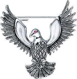 Броши Element47 by JV PS100315BH-JV броши jv серебряная брошь кулон с перламутром bls 39 shgl wg