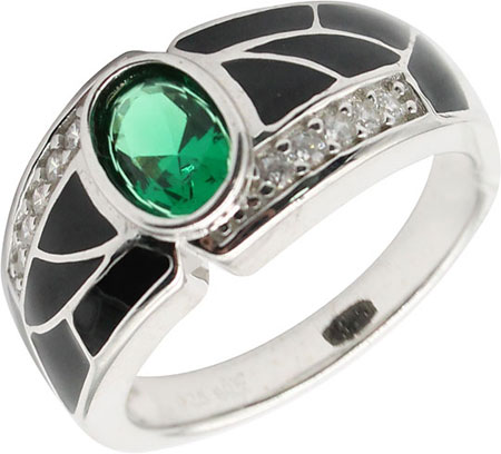 Кольца Element47 by JV R06488-green кольца element47 by jv r21425