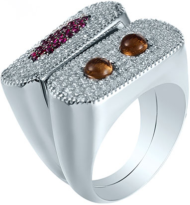 Кольца Element47 by JV R28027 jv женское серебряное кольцо с куб циркониями sr01924czzsw 1 001 wg 17