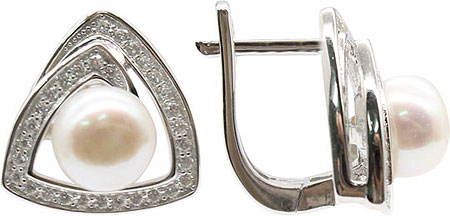 Серьги Element47 by JV S0800515E серьги с подвесками jv серебряные серьги с культив жемчугом и куб циркониями gpss 5622 e wp 001 wg