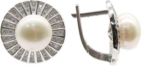 Серьги Element47 by JV S0800603E серьги с подвесками jv серебряные серьги с культив жемчугом и куб циркониями gpss 5622 e wp 001 wg