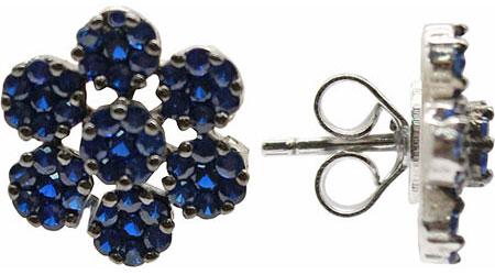 Серьги Element47 by JV SB0303-E-blue колье element47 by jv hpp0878 4 black
