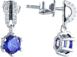 Серьги Element47 by JV SE32147BN1 женские кулоны jv серебряный кулон с куб циркониями sp02205qptsw 1 001 wg