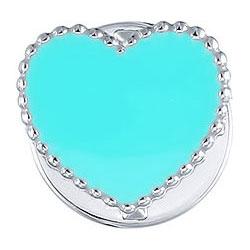 Броши Element47 by JV SO-B0190-blue кулоны подвески медальоны element47 by jv sp32624c1