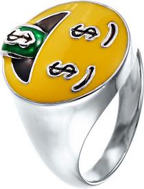 Кольца Element47 by JV SR28071 jv женский серебряный браслет с эмалью в позолоте bag 712 enam 001 yg 18