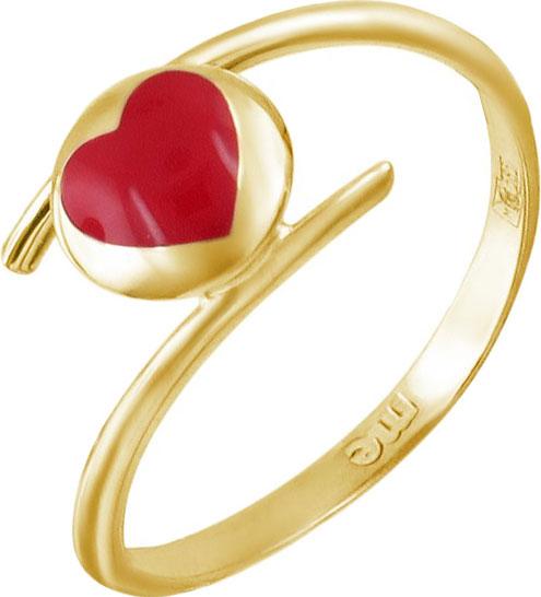 Золотое кольцо ESTET Moscow 01K0311252JE с эмалью