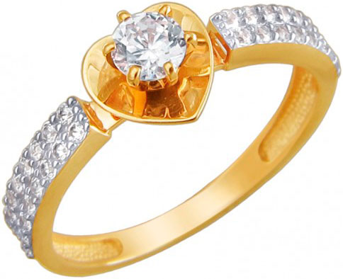 Кольца Эстет 01K1310977R кольцо эстет женское золотое кольцо est01к016590 18