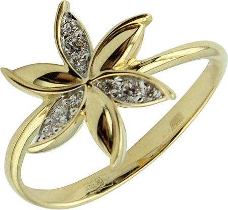 Кольца Эстет 01K1311531 кольцо эстет женское золотое кольцо с куб циркониями nd1141393 17