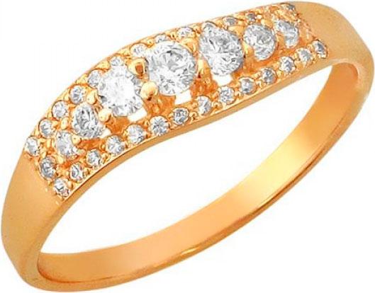 Кольца Эстет 01K155812A кольцо эстет женское золотое кольцо с куб циркониями nd1141393 17