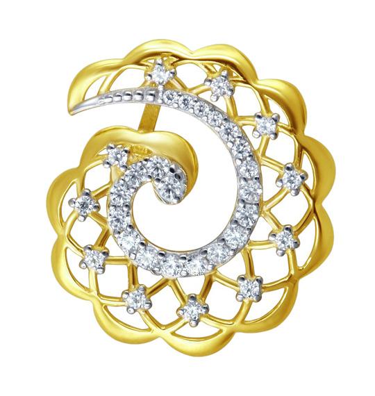 Кулоны, подвески, медальоны Эстет 01P1311010 ювелирный завод эстет подвески и кулоны est 01п326277 тф