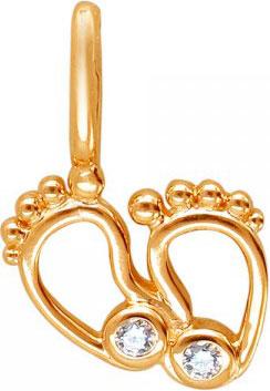 женские кулоны эстет серебряный кулон с куб цирконием в позолоте est01п152517аz Кулоны, подвески, медальоны Эстет 01P152421A
