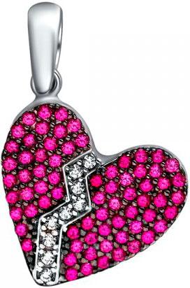 женские кулоны эстет серебряный кулон с куб цирконием в позолоте est01п152517аz Кулоны, подвески, медальоны Эстет 01P253262CH-1