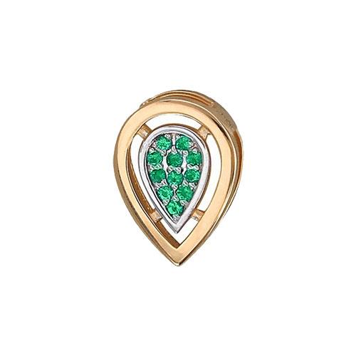 женские кулоны эстет серебряный кулон с куб цирконием в позолоте est01п152517аz Кулоны, подвески, медальоны Эстет 01P517583